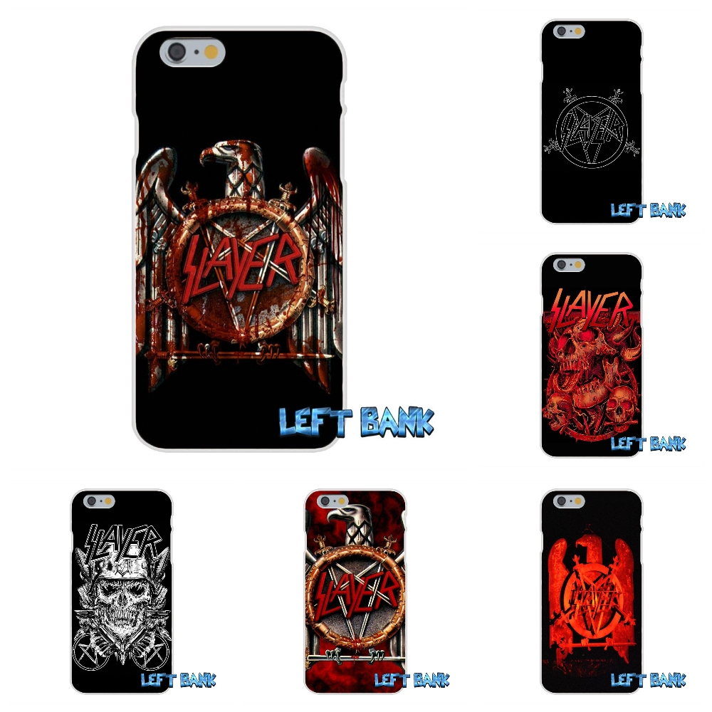 Slayer Pentagram Logo Soft Silicone TPU Transparent Cover Case For iPhone 4 4S 5 5S 5C SE 6 6S 7 Plus