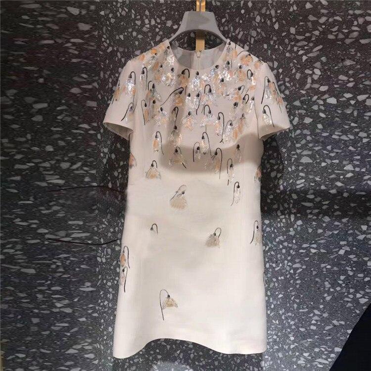 Nuovo Francese Minoranza Vento Rotonda Stampato collare a maniche lunghe Vestito Sottile G0484-in Abiti da Abbigliamento da donna su  Gruppo 1