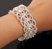 Fashion Bridal Jewelry Romantic Wedding party Accessories Bridal Bracelet Wrist Band Jb080