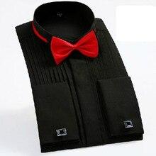 Men Night Club Tuxedo Dress Shirts,Long Sleeve Candy Color Cotton High Quality High-grade Swallow Collar Design Shirts Vestido