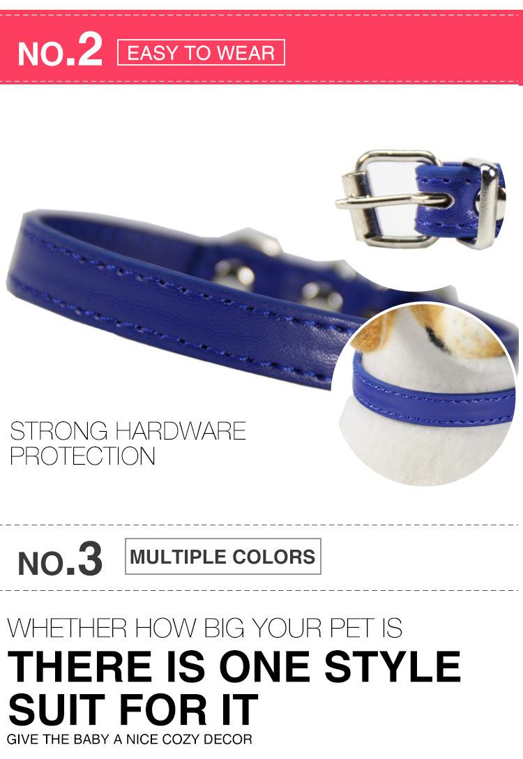 Collares de colores suaves para perros 8