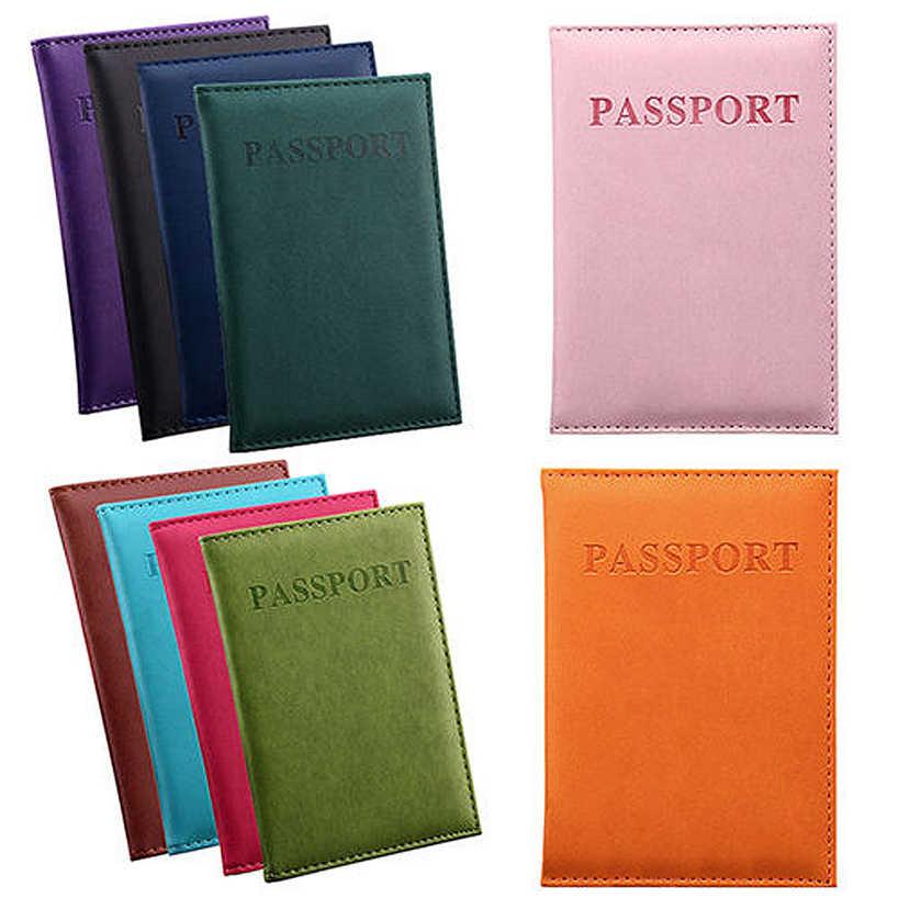 Aelicy твердый Дорожный Кожаный чехол для паспорта с отделением для карт, чехол Защитная крышка, кошелек, Тонкий Повседневный паспорт, книга для женщин Men0