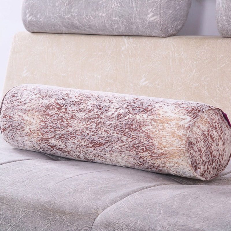 Neck Roll Pillow Fill Full Cylindrical Bolster Soft Bed Waist Pillow Detachable