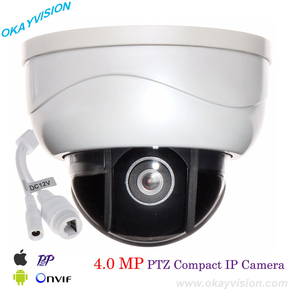 H.265 4.0MP mini PTZ IP dome camera Full-HD 2592*1520P indoor 15m IR night vision p2p Onvif Network PTZ dome surveillance camera ptz ip camera 1080p onvif h 264 3x zoom full hd p2p indoor plastic dome 15m ir night vision 2mp p2p surveillance camera