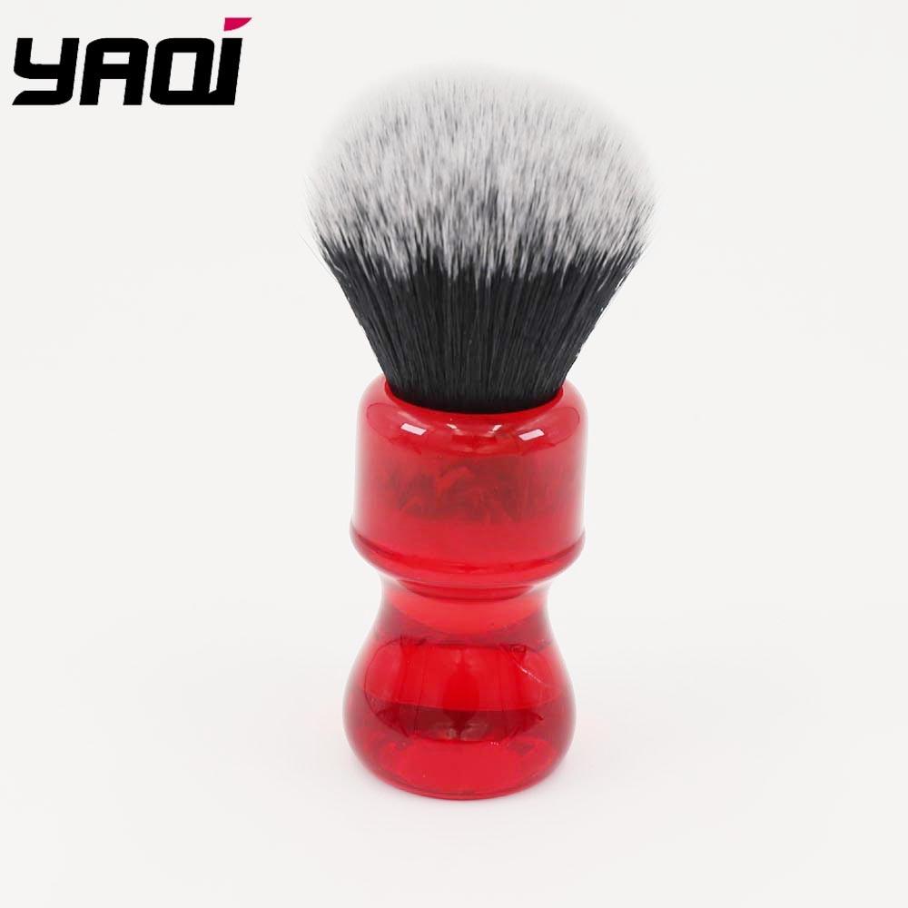 Yaqi 24mm Ruby Tuxedo Knot Shaving Brush 2 tuxedo