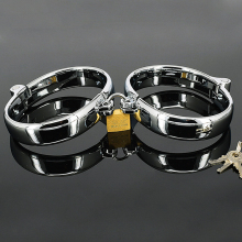 50*65mm Metal handcuffs ankle cuffs for sissies and crossdresser