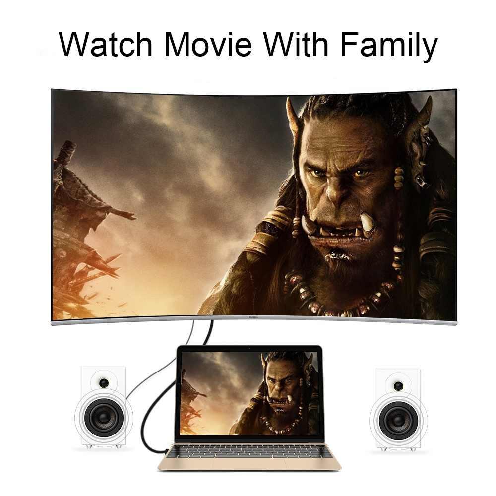1.8M USB C untuk Tampilan Port Dp Kabel Tipe-C USB-C 4K 60Hz untuk HUAWEI Mate 10 Macbook Air Pro 2016/2017 Dell XPS 13/15 Samsung S8