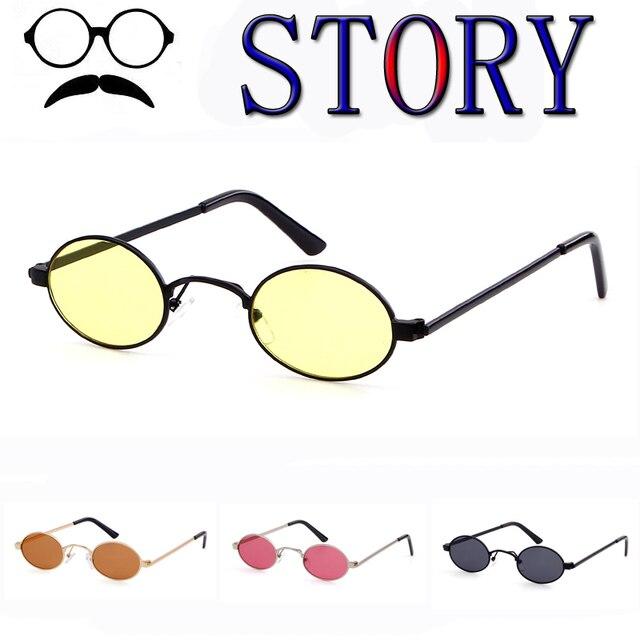 c8ad41927e1e1 Retro Pequenos óculos de Sol Oval Retângulo Doces Cores Mulheres Armação de  Metal Lente Clara Do