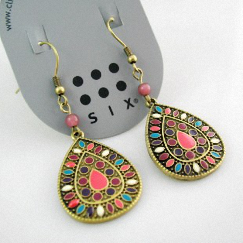 19 color new sale vintage earrings for women fashion earrings statement jewelry wholesale dj078