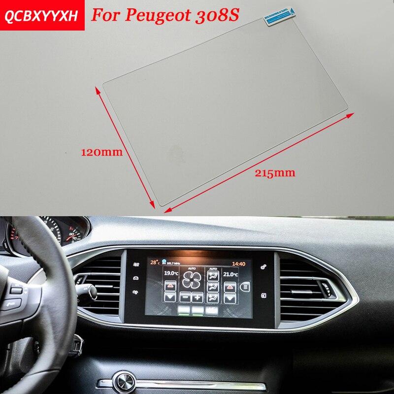 Autocollant de voiture 9.7 Pouce GPS Navigation Écran En Acier De Protection Film Pour Peugeot 308 S Contrôle de LCD Écran Voiture Style