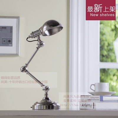 American study Desk lamp of bedroom the head of a bed European style living room HH creative fashion retro robot reading lamp american creative fashion led the study bedroom mirror before the long arm of the head of a bed wall lamp wrought iron long arm