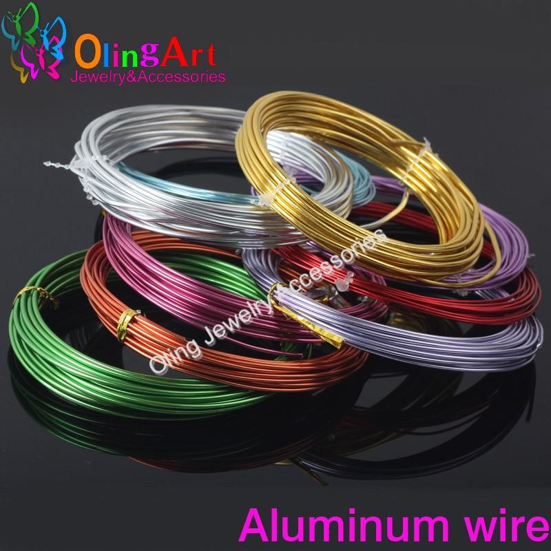 OLINGART 5M Roll of 2.0mm Aluminum Wire soft DIY craft versatile ...