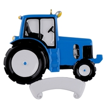 Maxora Tractor Blue Personalized Christmas Ornaments As Craft Ornament for Souvenir, Gifts or For Home Decorations