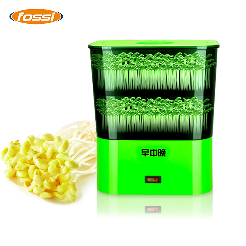 Bean Sprout Machine Germination Intelligence Home Double-layer Nursery pots Automatic Bean Sprouts Machine Kitchen Electrical bear three layers of bean sprouts machine intelligent bean sprout tooth machine dyj b03t1