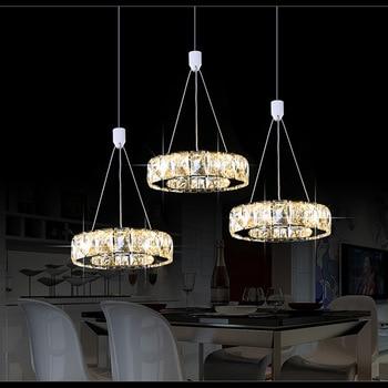 3 circel luces colgantes de cristal de lujo lámpara colgante para ...