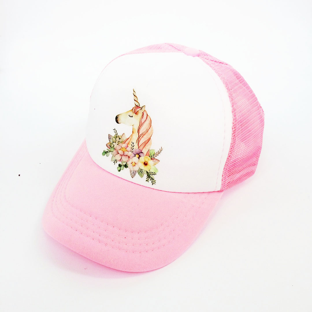 Baby Girl Hat Cap Accessories For 3-8 Years Girls  Kids Unicorn Baseball Cap Summer Sun Cruck Hat Cap For Children