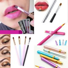 Portable 1PC Makeup Lip Brush Retractable Professional Comestic Make Up Lip Brush for Travel(China)