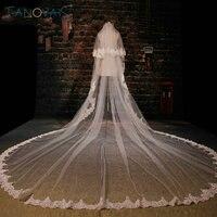 Trắng Tuyệt Đẹp Nhà Thờ Train Wedding Veil Ren Đính Tulle Dài Bridal Mạng Che Mặt Đám Cưới Phụ Kiện