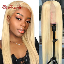 Brazilian Straight Lace Front Human Hair Wigs 13*6 613 Blonde Lace Front Wig Pre Plucked Natural Hairline 613 Lace Front Wig(China)