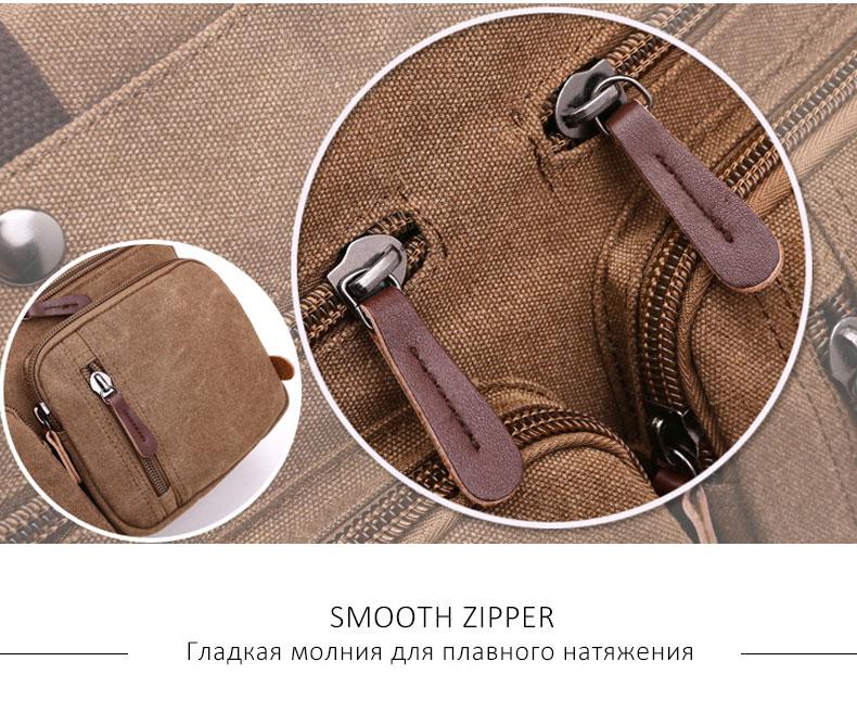 HTB1SeijsrsrBKNjSZFpq6AXhFXaO Scione Men Canvas Bag Leather Briefcase Travel Suitcase Messenger Shoulder Tote Back Handbag Large Casual Business Laptop Pocket