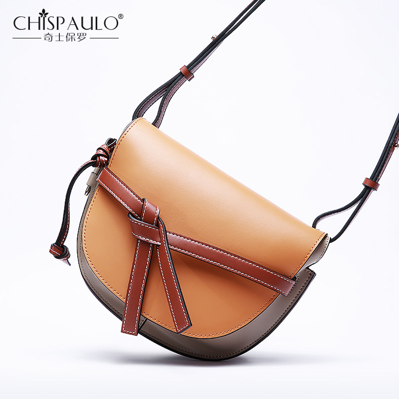 Genuine Leather Women Crossbody Bags High Quality Ladies Messenger Bags Famous Brand designer Female Shoulder Bags Saddle Bags famous brand designer 2018 ladies small messenger bags women serpentine leather shoulder bag high quality chains crossbody bags
