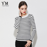 YuooMuoo New Brand Design Brief Striped Sweater Women Spring Autumn Tops European Fashion Basic Pullover Casual