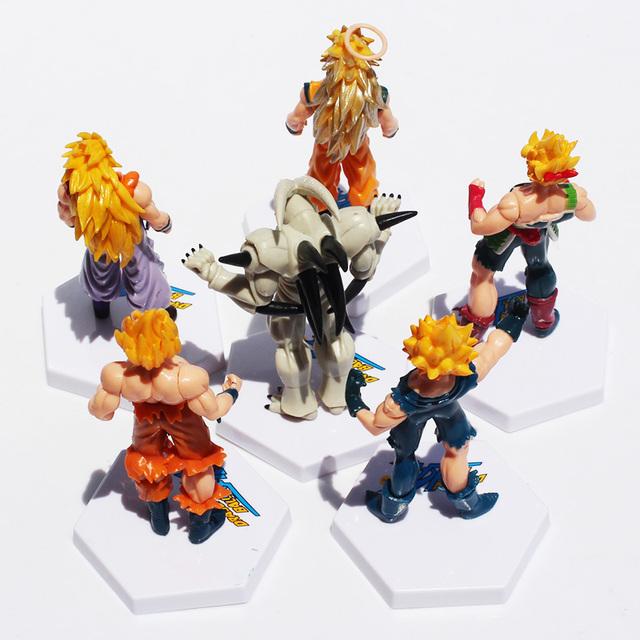 6Pcs 12cm Dragon Ball Z Super Saiyan Goku Vegeta Gotenks Buu