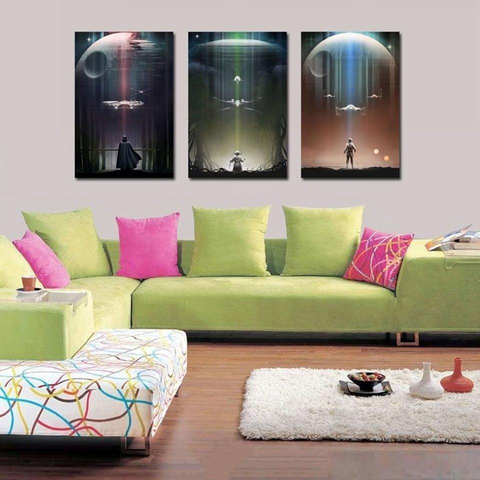 HD Print Canvas  Art Painting Star Wars Vs Aliens Home Wall Decor 16x24 Framed