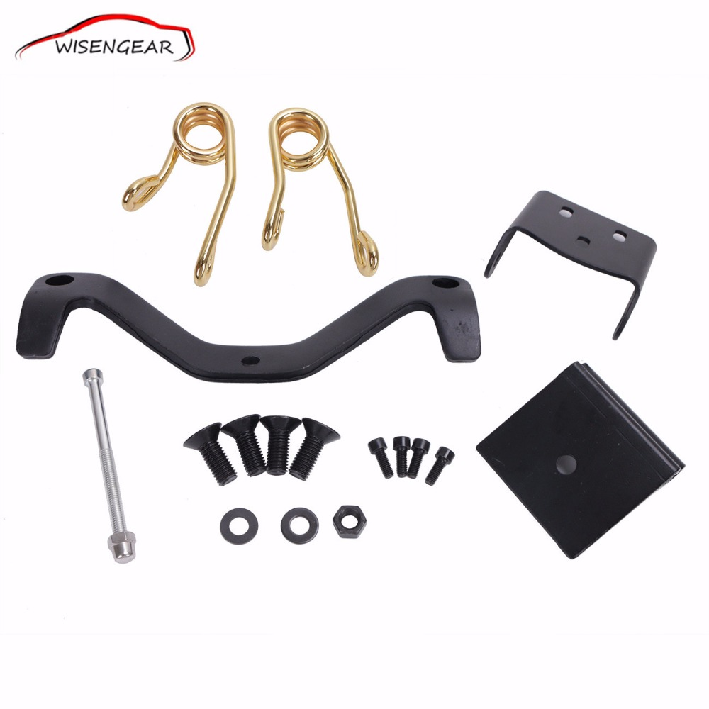 Gold Solo Seat Brackets Spring Saddle Mount Kit For Harley 2004 - 2014 Sportster XL1200 XL883 C/R/L C/5