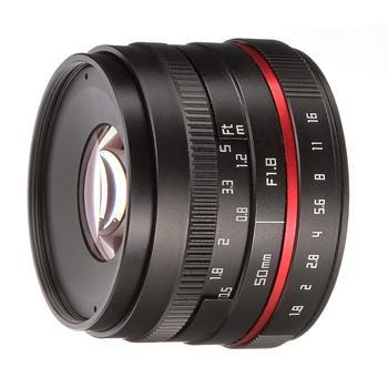 FOTGA 50mm F/1.8 Manual Focus MF Prime Lens for Panasonic Olympus Micro 4/3 Mount GH1 GH2 GH3 E-PM1 E-PM2 E-PL3 E-M10 фото