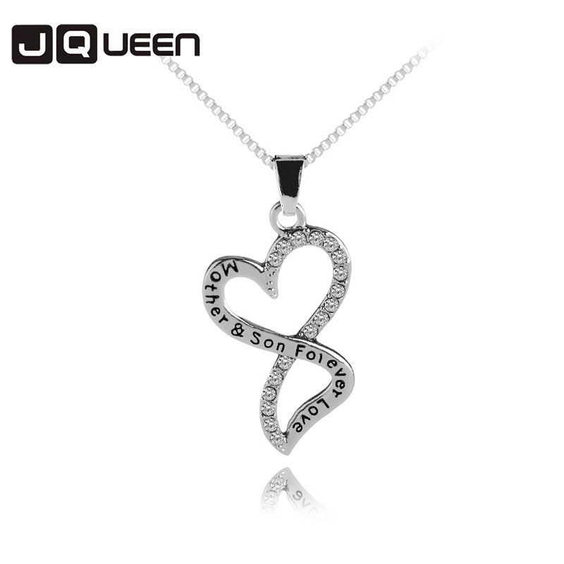 2018 New Arrival Fashion Pattern Mothers Day Necklace Mother And Son Forever Love Crystal Necklace Women Jewelry