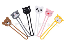 High Quality Lovely Cute Animal Shape Soft Silicone 6 colors Cable Winder