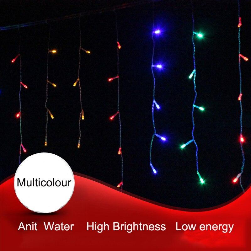 4M Anslutbar droppe 0,3-0,6m ledde julen icicle fairy gardin ljus - Festlig belysning - Foto 3