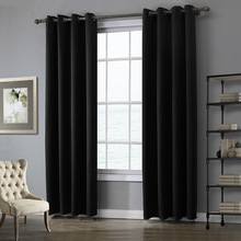 bedroom shade curtain solid color thermal insulated blackout curtains heat soundproof window drape blinds panel for