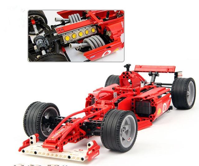 Construction 10 Modele Serie Coureurs De Enfants F1 Voiture Ville 8386 Jouets Blocs 1 Technique Marvel Compatible Racer Briques zqSVUpM