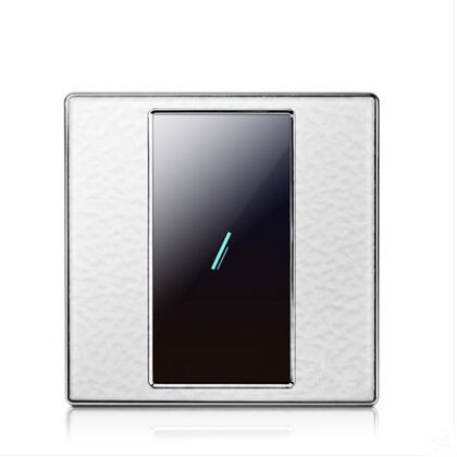 HUANGXING UK Standard, Touch Remote Control Light Switch, 1Gang1Way Acrylic Touch Panel Wall Switch, With LED Indicator, SRL0101 smart home us black 1 gang touch switch screen wireless remote control wall light touch switch control with crystal glass panel
