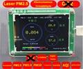 1 PC detector de Formaldeído PM2.5 PM10 PM1.0 M5S poeira PM2.5 neblina Laser com sensor de Temperatura e umidade LCD TFT com bateria
