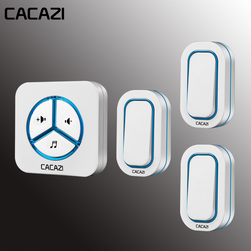 Cacazi Doorbell 280m Remote Ac 110-220v Wireless Door Bell 48 Rings Door Chime Remote Home 3 Waterproof Buttons+1 ReceiverCacazi Doorbell 280m Remote Ac 110-220v Wireless Door Bell 48 Rings Door Chime Remote Home 3 Waterproof Buttons+1 Receiver