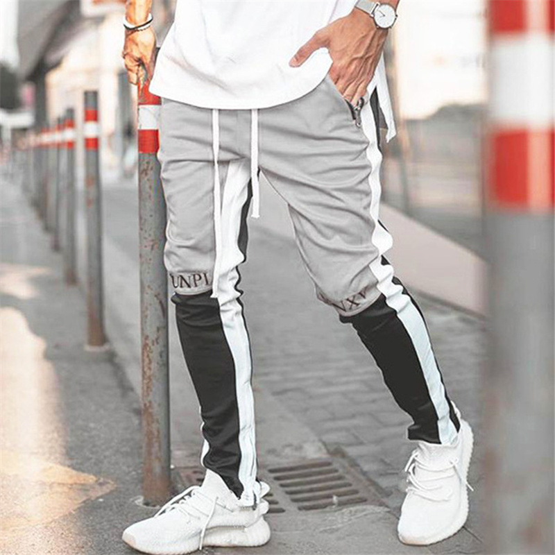 2020 New Spring Brand Gym Sport Pants Men Joggers Patchwork Fitness Bodybuilding Mens Running Pants Runners Clothing Sweatpants 2