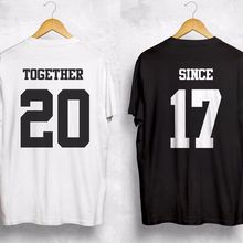 fe652077e6 Together Since Any Year T Shirt Personalized Custom Valentines Gift Couple  Wifey cotton short-sleeved