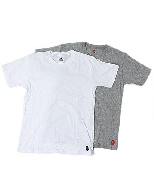 Authentic Japanese Bape  Packs Of Render T Shirt Male Money