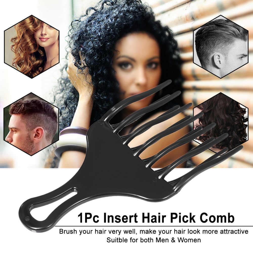 1Pc Haar Kamm Einfügen Afro Haar Pick Kamm Haar Gabel Kamm Kunststoff High & Low Getriebe Kamm Friseursalon Styling werkzeug für Mann Frau