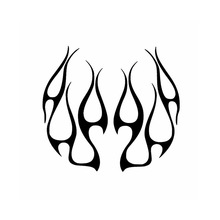 цены 13*12cm Hot Rod Hood Flames Car Vinyl Decal Graphics Car Truck Sticker Vinyl Decal Jdm