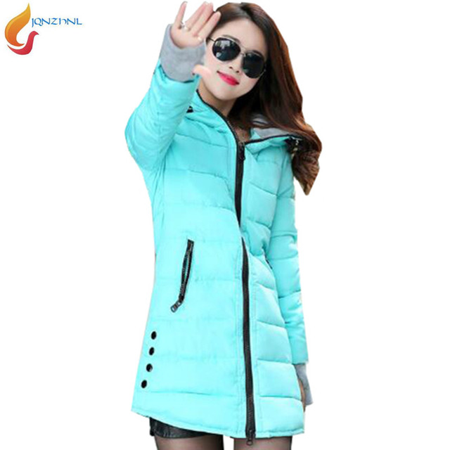 523e4b5cd0c31 2018 parkas New Women Snow Wear Down jacket winter Fashion Girls padded  Thicker jackets Long Section