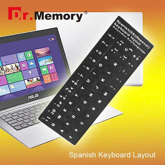 Español teclado del ordenador portátil etiqueta engomada estándar SP diseño Durable para computadora de escritorio teclado