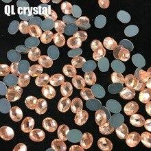QL crystal 8x10mm Crystal popular DIY Clothes garments shose bags glue on flatbacks glass rhinestones