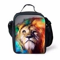 FORUDESIGNS Cute Animal Cat Lunch Bag For Women Insulated Children Kids Lunchbox Keep Warm School Work