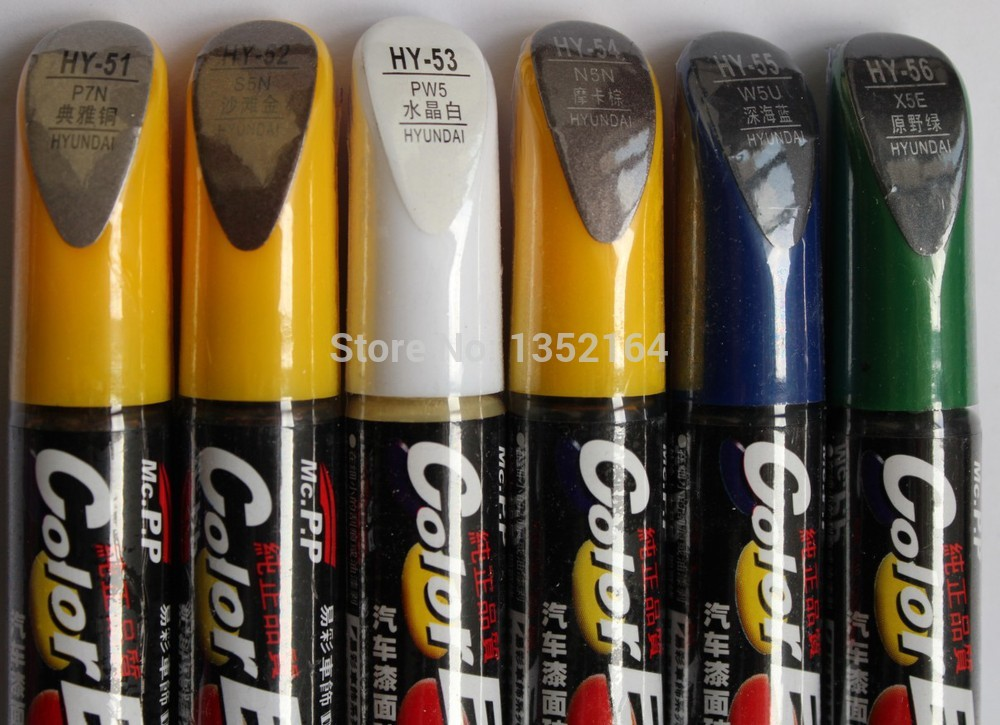 Car Scratch Repair Pen, Auto Paint Pen For Hyundai IX35 Elantra I30 Sonata ,car Painting Accessory