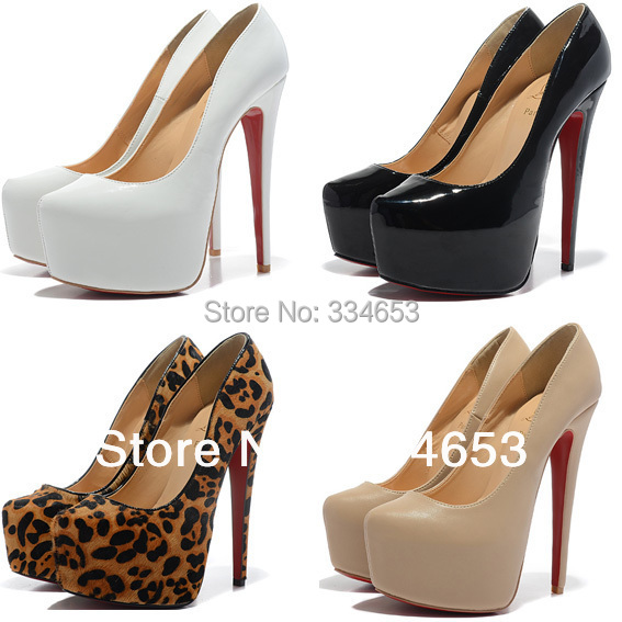 Aliexpress.com : Buy 6 Inch Plaform Heels Pumps Cheap Red Bottom ...