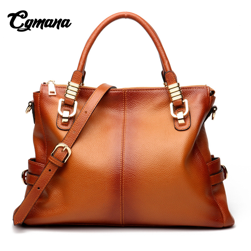 Women Genuine Leather Handbags 2018 High Quality Handbag Luxury Handbags Women Bags Designer Women's Brand Leather Shoulder Bag ladies genuine leather handbag 2018 luxury handbags women bags designer new leather handbags smile bag shoulder bag